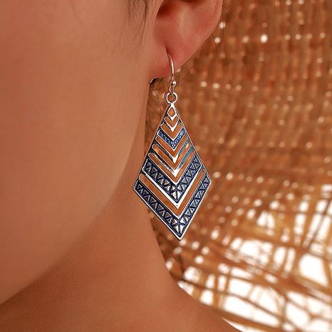 Aretes de diamantes azules de aleación bohemia retro NHGY284765's discount tags