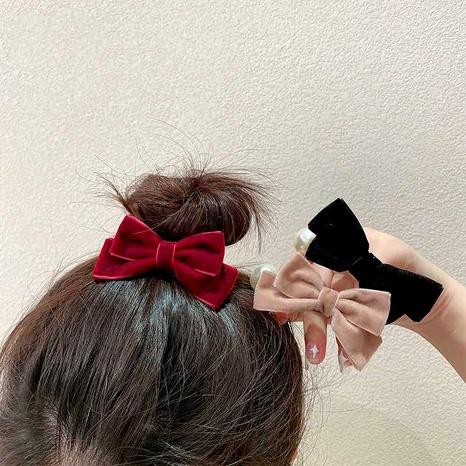 Corée nouvelle corde de cheveux de perle de velours de queue de cheval rétro NHCQ283917's discount tags