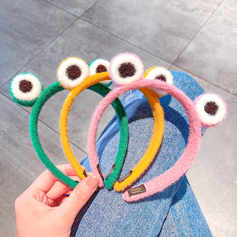 linda diadema de lana de dibujos animados de rana de ojos grandes NHNA283708's discount tags