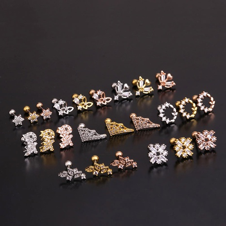 fashion flower zircon  earrings  NHEN283630's discount tags