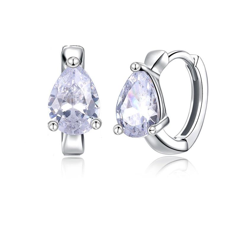 S925 sterling silver zircon earrings NHKL284101