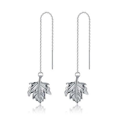 S925 sterling silver maple leaf ear line NHKL284102's discount tags