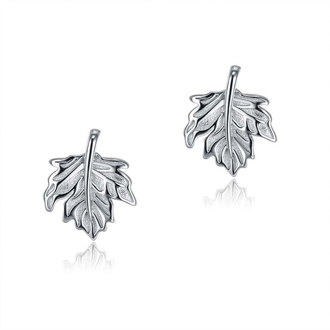S925 Sterling Silver Fashion Maple Leaf Stud Earrings NHKL284103's discount tags