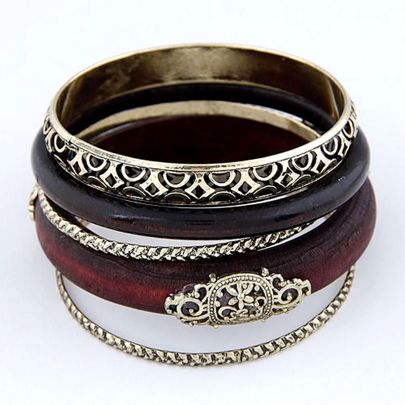 fashion wooden retro multi-layer bracelet NHSC284748