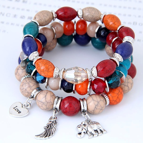 fashion baby elephant heart wings multilayer bracelet NHSC284747's discount tags