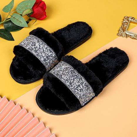 zapatillas de gamuza de felpa antideslizantes de algodón para el hogar de moda NHPE284210's discount tags