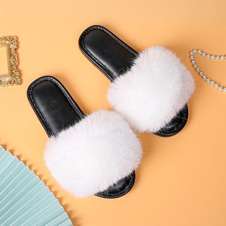 zapatillas de felpa de tacón plano de suela suave de moda NHPE284211's discount tags