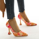 pointed toe rainbow color shallow mouth high heels NHCA284239