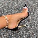 metal highheeled diamond pointed stiletto sandals  NHCA284280