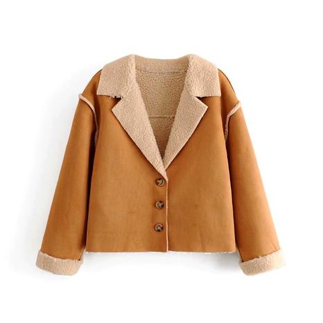 lamb fur deerskin lapel short coat NHAM284317's discount tags