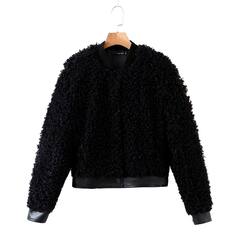 Winter Teddy Curly Wool Jacket NHAM284319's discount tags