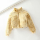 winter lamb hair teddy velvet tiedye drawstring jacket  NHAM284323