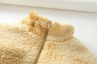 winter lamb hair teddy velvet tiedye drawstring jacket  NHAM284323
