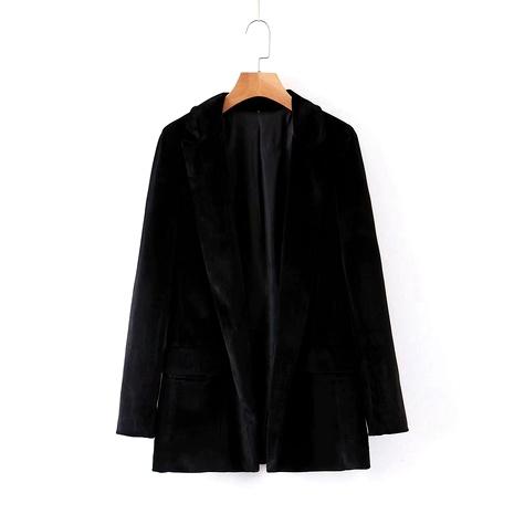 Knopf Samt Damen Anzug Anzug Jacke NHAM284347's discount tags
