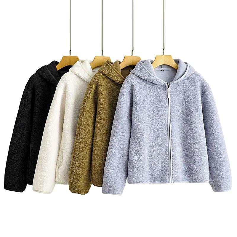 new  polar fleece zipper hooded jacket  NHAM284349