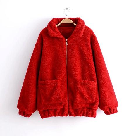 lamb hair short  wild thick furry jacket  NHAM284359's discount tags