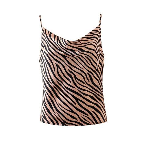 Seidenschlingenoberteil mit Zebradruck NHAM284361's discount tags
