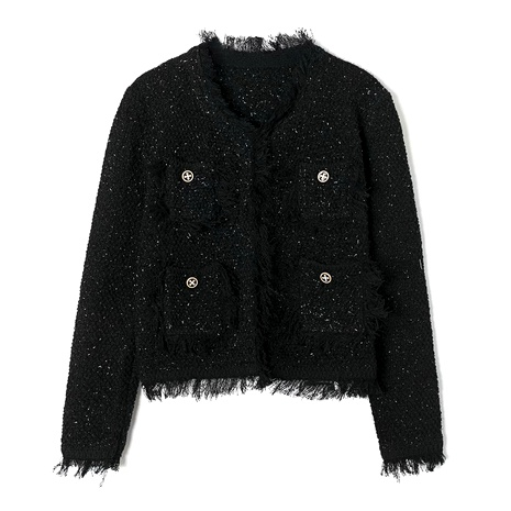 women's knitted short jacket  NHAM284365's discount tags