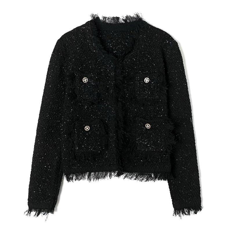 women's knitted short jacket  NHAM284365