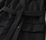 new belt doublebreasted sleeves plaid longsleeved blazer  NHAM284395