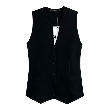 simple knitted vest NHAM284408's discount tags