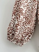 printed leopard print front short back long pullover shirt NHAM284439