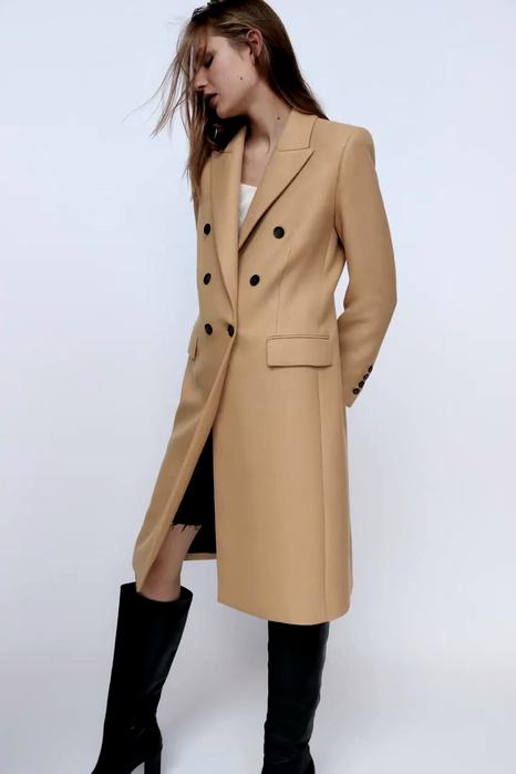 women's double-breasted coat woolen coat  NHAM284453's discount tags