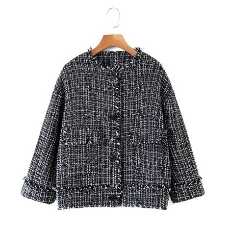 kurze Wolle Strickjacke Damen Wollmantel NHAM284465's discount tags