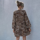 high waist leopard print dress  NHDF284479