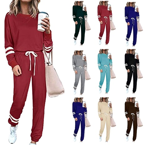 Ladies autumn casual two-set fashion suit sports suit casual suit NHJC284687's discount tags