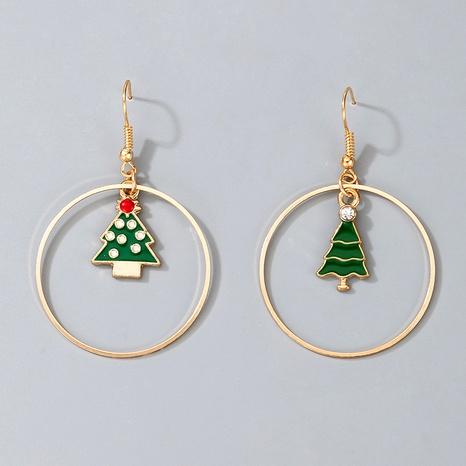 Christmas tree rhinestone earrings NHGY285689's discount tags