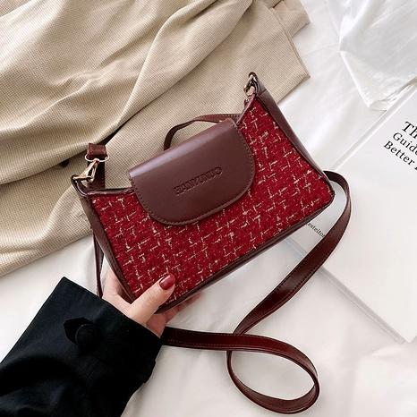 retro fashion shoulder woolen underarm bag  NHRU284623's discount tags