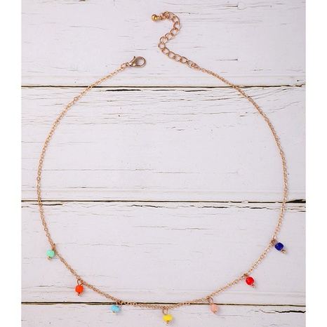 Bohemian bead clavicle chain fashion casual color bead necklace NHGY285675's discount tags