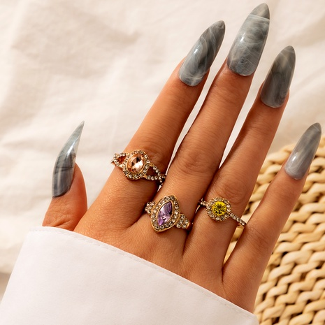 fashion alloy artificial gemstone rings set  NHGY285656's discount tags