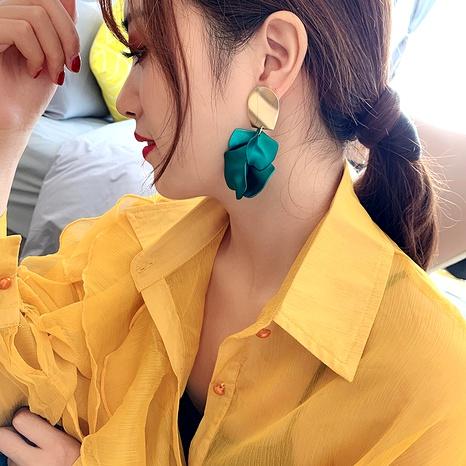925 silver needle rose petal earrings fashion long tassel flower earrings NHQC284688's discount tags