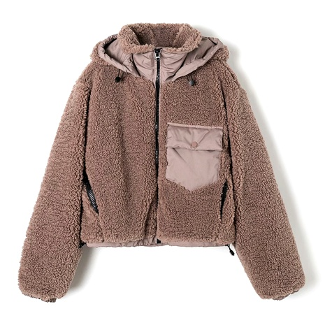 winter stitching fleece jacket NHAM284362's discount tags