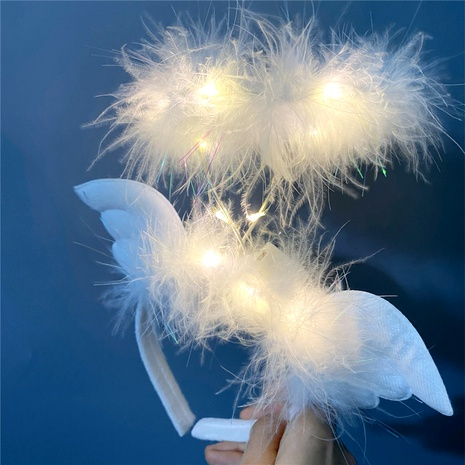 cute little angel wings feather  luminous   headband  NHFS284740's discount tags