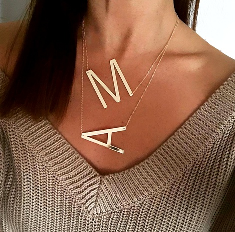 26 English letters necklace NHPF284824's discount tags