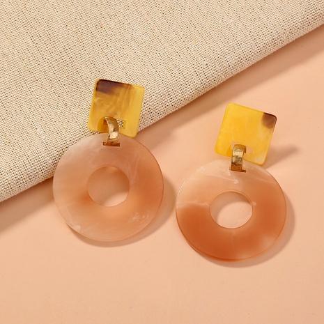 pendientes de gradiente hueco redondos de acrílico de moda retro NHAN284837's discount tags