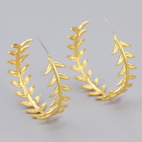 leaf C-shaped alloy earrings NHJE284904's discount tags