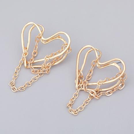 aretes con borlas de aleación y cadena en forma de corazón NHJE284907's discount tags
