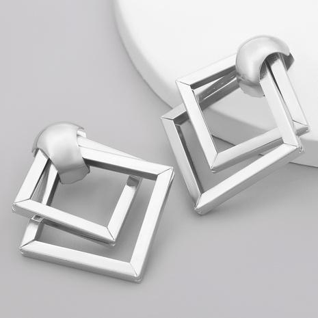 Irregular semicircle diamond alloy earrings NHJE284918's discount tags