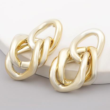 Fashion Irregular Rhombus Oval Earrings NHJE284922's discount tags