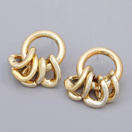 irregular rhombus round earrings NHJE284932's discount tags