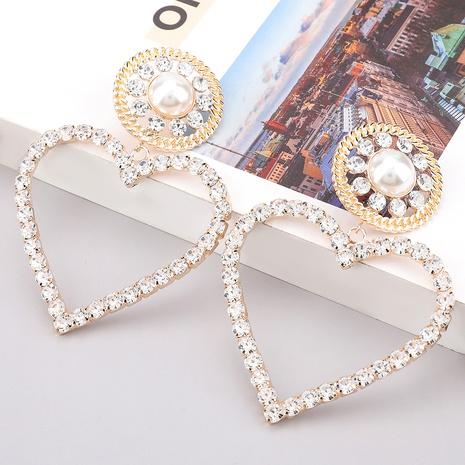 pendientes de diamantes de aleación de perlas de imitación NHJE284939's discount tags
