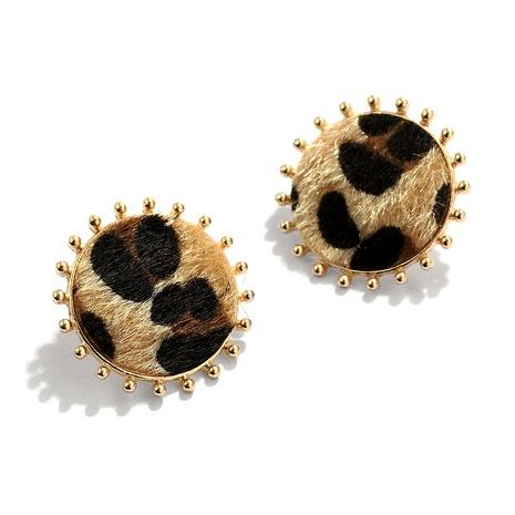 Fashionable leopard print earrings NHJQ284947's discount tags