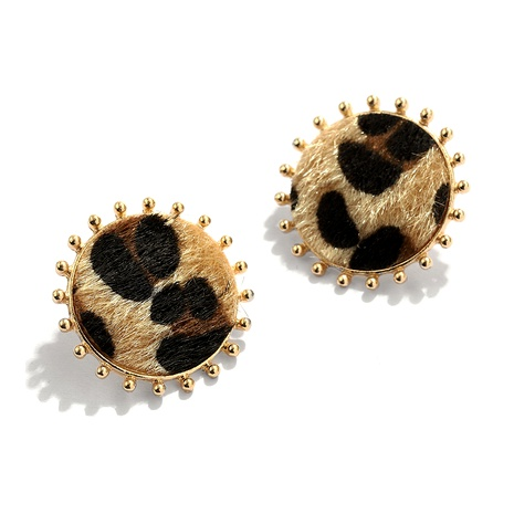 Pendientes de moda con estampado de leopardo NHJQ284947's discount tags