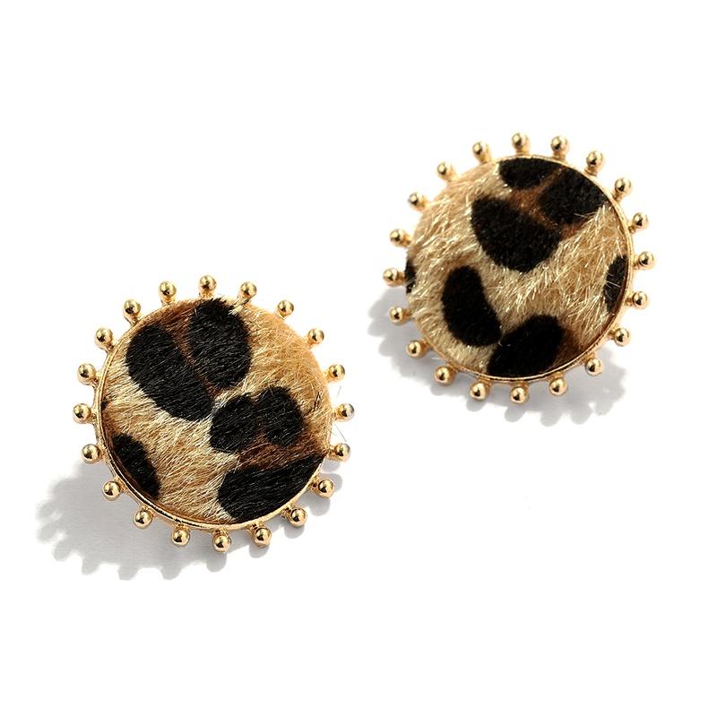 Fashionable leopard print earrings NHJQ284947