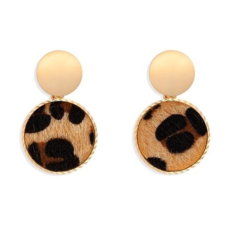 Leopard hair ball retro earrings NHJQ284948's discount tags
