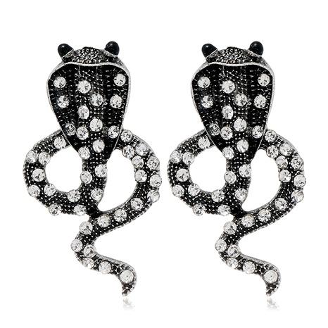 aretes retro con forma de serpiente NHLN284963's discount tags